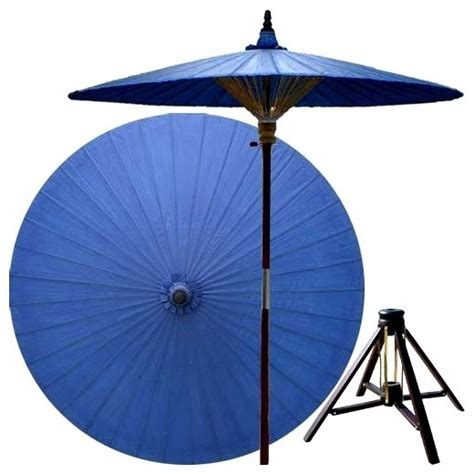 bamboo patio umbrella 7 ft berry patio umbrella w bamboo stand asian