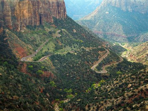 focusing on travel high on zion national park