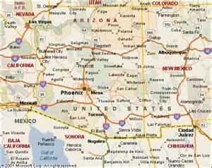 map of arizona travel map travelquaz
