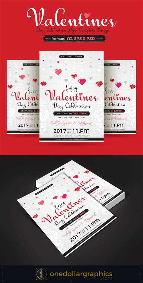 Valentines Day Celebration Party Flyer Template Design Flyer Celebration Template