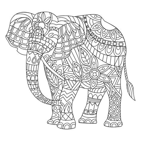 elephant coloring pages to print for adults complex elephant coloring pages free background for adults