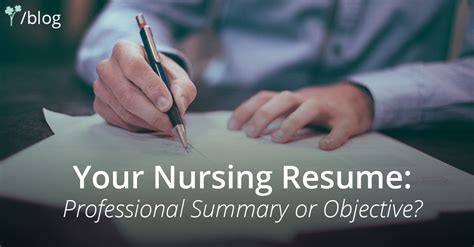 your nursing resume professional summary or objective