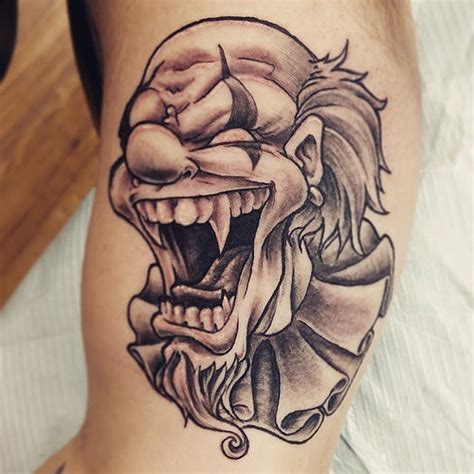 black and grey jester tattoos 70 awesome clown tattoos