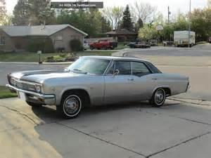 1966 Chevrolet Impala 4 Door 1966 Chevrolet Impala Black Gray Base Hardtop 4 Door 5 3l