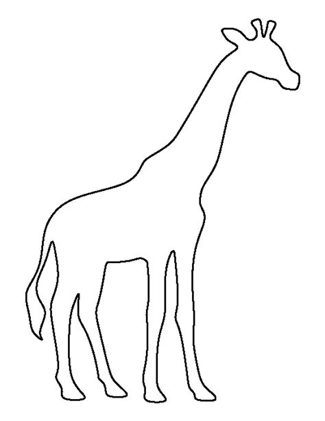 giraffe pattern use the printable outline for crafts