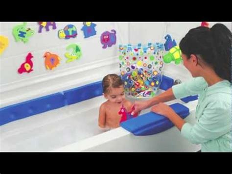 bathtub safety for toddlers kids bathtub safety bumper rails from one step ahead youtube