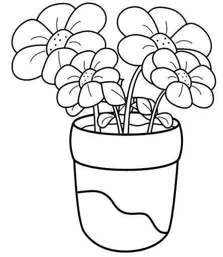 plant coloring pages for kindergarten flower coloring sheets for kindergarten blume coloring