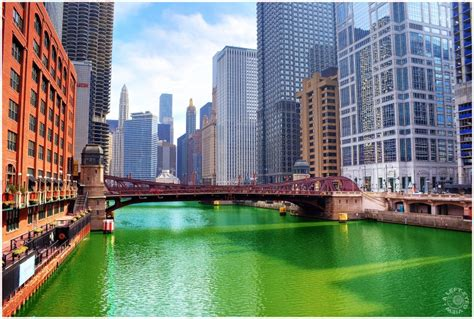 in color chicago color the river green cityscape photos a left