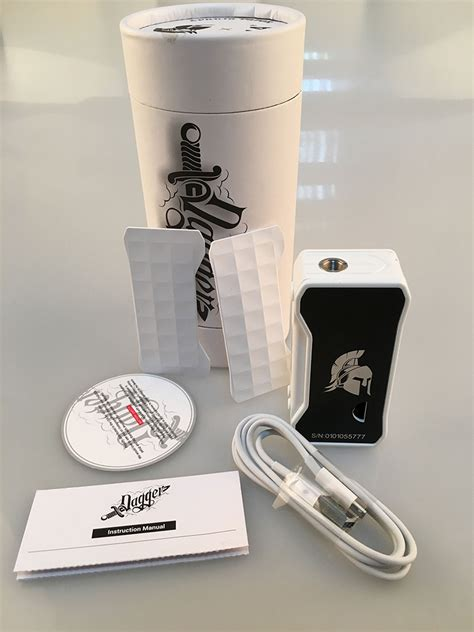 The Dagger Box Mod 80w Authentic Best Buy dagger box mod white 80w by vo tech for sale