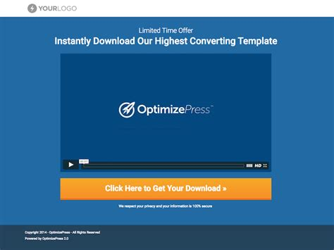 Awesome New Templates In Optimizepress 2 4 Optimizepress Simple Landing Page Template