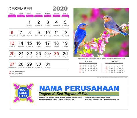 kalender meja  burung cantik  gratis template vector