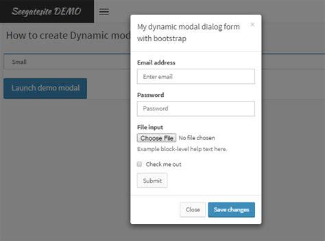 ui pattern modal window create dynamic modal dialog form in adminlte bootstrap