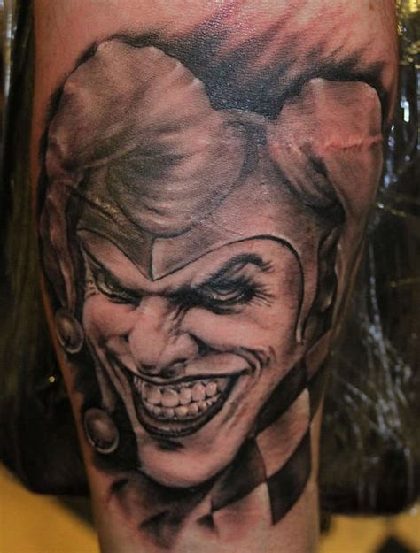 joker tattoo dragon scary joker tattoo