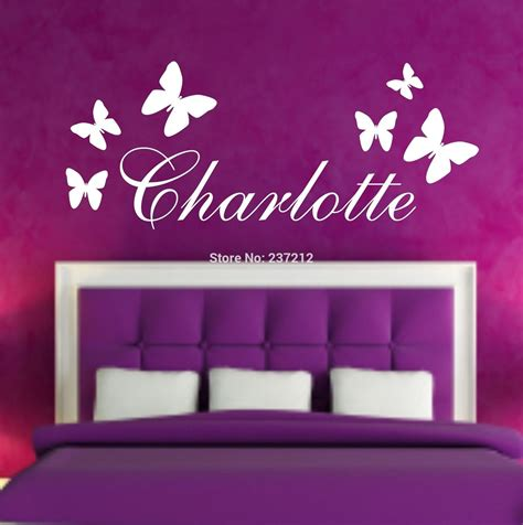 name stickers for bedroom walls aliexpress com buy personalised butterfly name wall