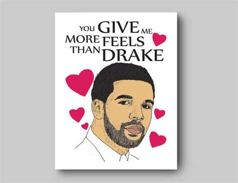drake card sentimental rapper romance cards drake card