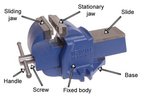 parts of a bench vice what are the parts of a metalworking vice