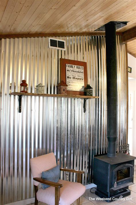 Guest Bedroom Decorating Ideas by Remodelaholic Diy Corrugated Tin Wall Tutorial