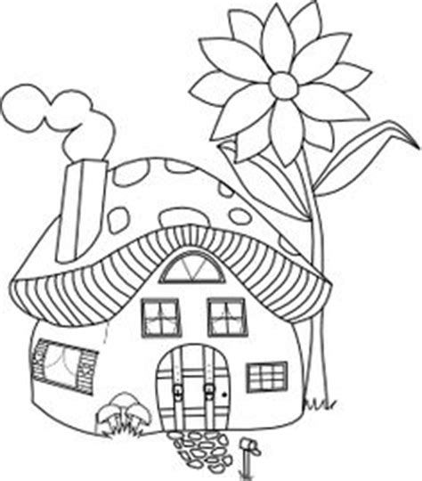 mushroom house coloring pages pinterest the world s catalog of ideas