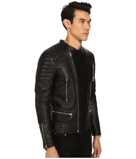 motor leather jacket lyst philipp plein leather motor jacket in black for men