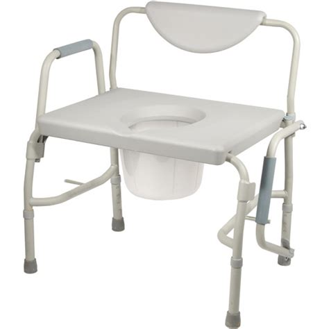 Drop Arm Commode Chair by Drive Bariatric Drop Arm Bedside Commode Chair Walmart