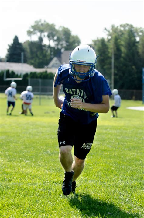 Section 5 Football by Photos Practice Day For Notre Dame And Batavia Football The Batavian
