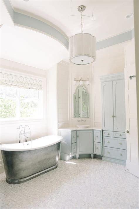woodlawn blue bathroom master bathroom corner blue vanity transitional