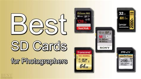 best sd cards best sd cards for photographers for 2019