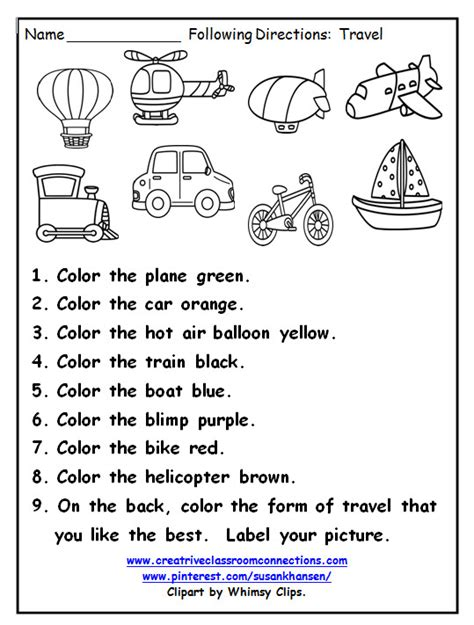 get printable directions this great printable provides practice for students