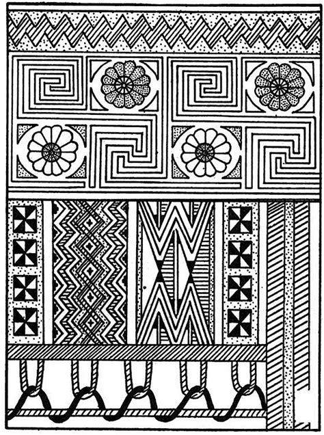 aboriginal patterns coloring pages free native pattern animals coloring pages