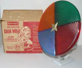rotating color wheel for tree 1950s mid century penetray motorized color wheel light for