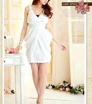 Dress Pesta Putih Import Murah mini dress pesta wanita putih cantik model terbaru