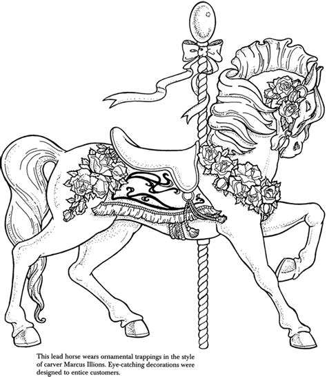 coloring pages of carousel horses carousel coloring pages az coloring pages