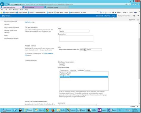 cross site publishing for page library in sharepoint 2013