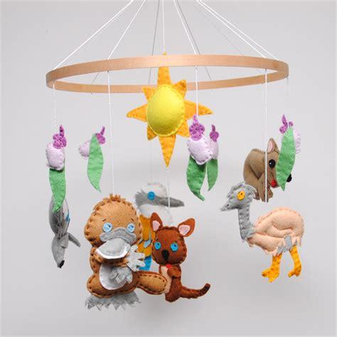 Handmade Baby Mobiles Australia - australiana animal baby mobile razzle dazzle 4 u