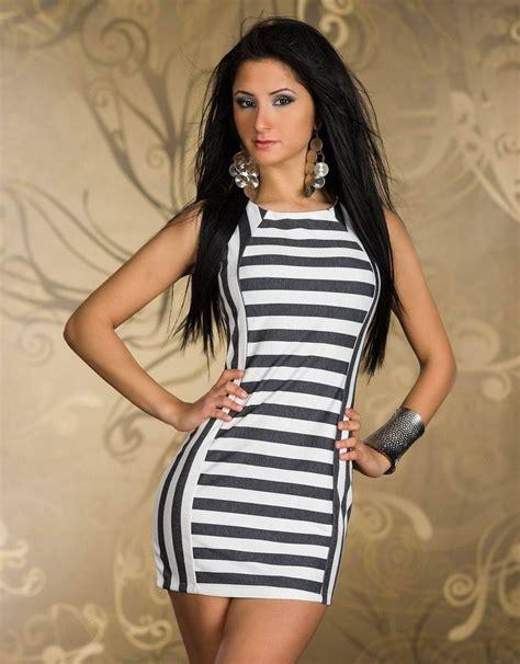 Dress Model White Style Fashion Impor 3 free shipping trendy black white striped mini dress 3f2290 new style fashion dress in