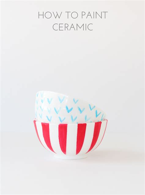 How To Paint Ceramic The Crafted Life