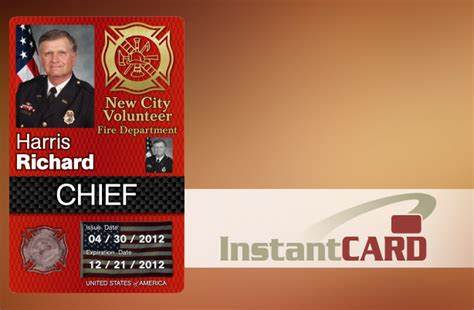 firefighter id cards template secure and durable firefighter emt and id cards