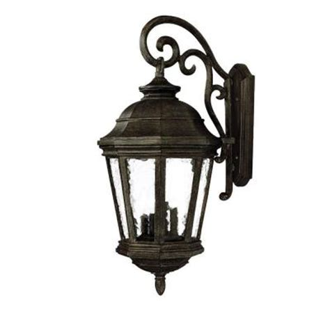 Discontinued Outdoor Lighting with Acclaim Lighting Barrington Collection Wall Mount 4 Light Outdoor Black Coral Light Fixture