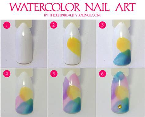 watercolor design tutorial easy watercolor nail art using opi sheer tints plus