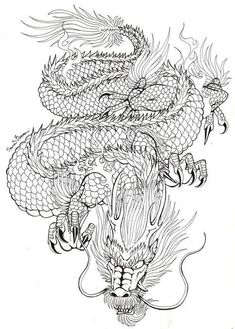 18 best dragons images on pinterest japanese dragon pictures japanese sketches black and white drawing art