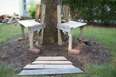 diy tree bench diy hexagonal tree bench from wood pallets 100 pallet