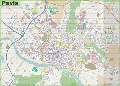 osm pavia large detailed map of pavia