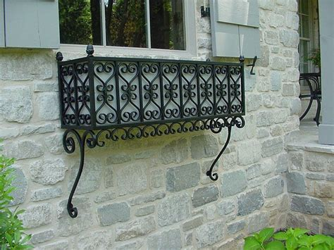 Planters For Wrought Iron Railings by Window Box 1 1 A Wrought Iron Window Box Exteriors Excavations Gardens