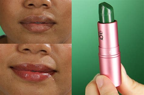 green color changing lipstick we tried green color changing makeup and it was actually
