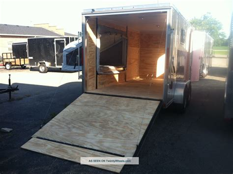 trailer bed enclosed trailer fold down beds car interior design