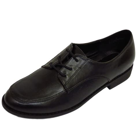 oxford school shoes flat black lace up oxford brogue work school
