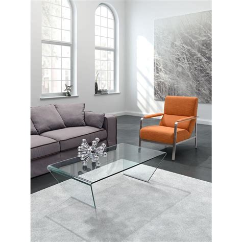 clear glass coffee table zuo migration clear glass coffee table 404087 the home depot
