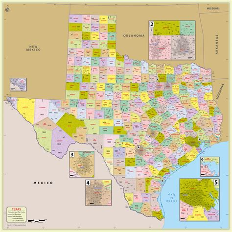 zip codes in texas map buy texas zip code with counties map