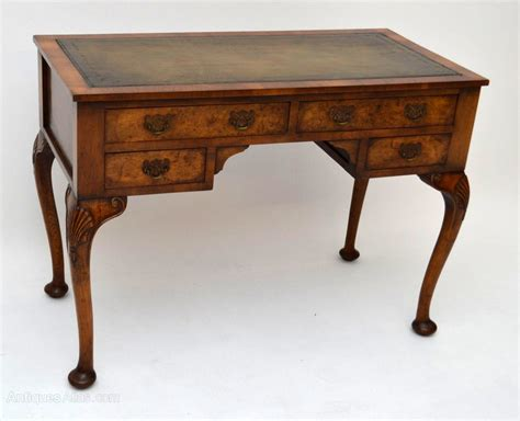 Antique Leather Top Desk by Antique Walnut Leather Top Desk Writing Table Antiques