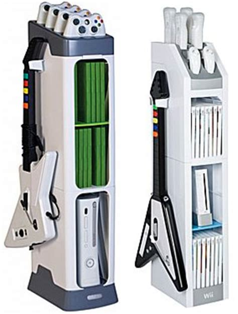 design ideas computer game equipment storage units xbox and wii gaming towers look more like gaming shrines
